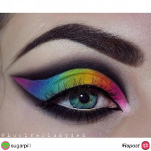 RT sugarpill  rainbow eyes by luciferismydad using all sugarpilleyeshadowshellip