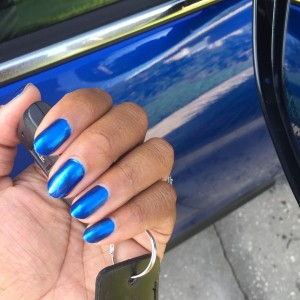 Blue nails next to my driveshopusa Mitsubishi Outlander This vibranthellip
