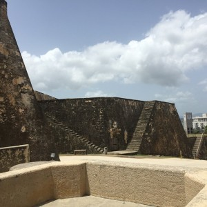 Visiting Castillo San Cristobal in PuertoRico