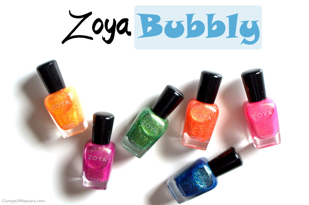Zoya Bubbly nail polish collection