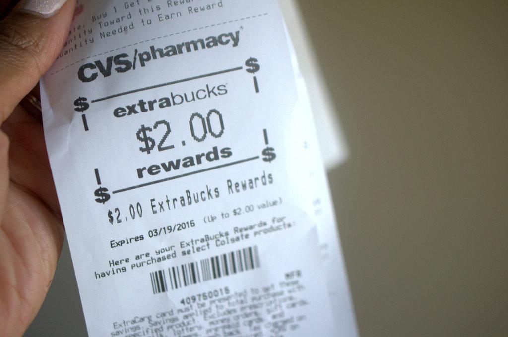 CVS Extra Bucks rewards