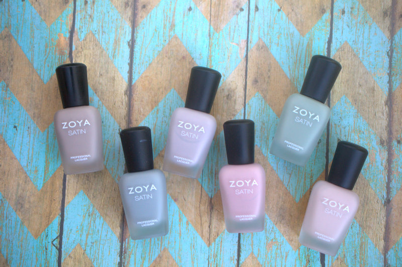 Zoya Naturel Satins nail polish collection