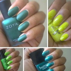 Do you like green nail polishes? Featured here: Zoya Veruschuka…