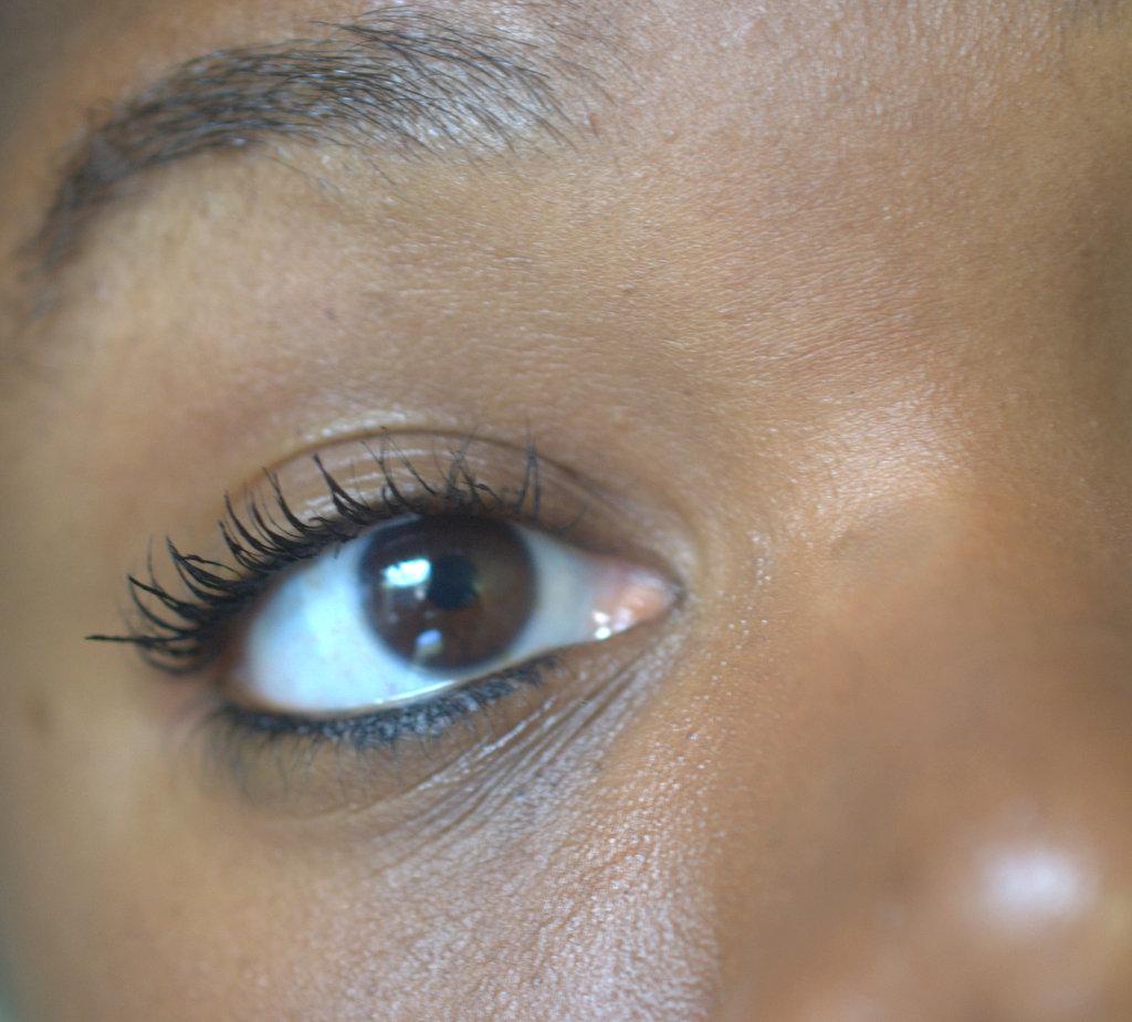 Mascara on eye lashes