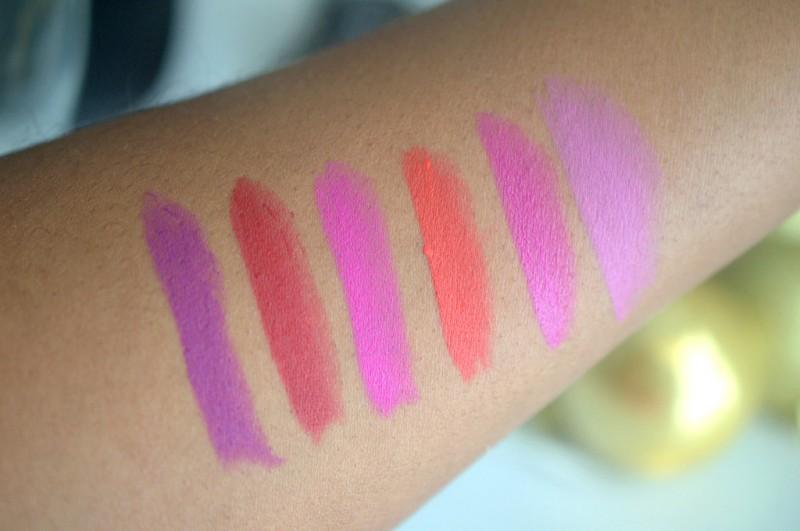 Matte Milani Lipstick swatches