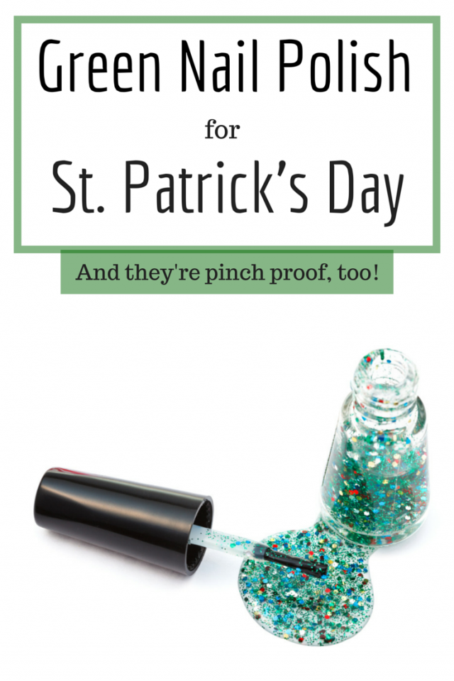 Green nail polish for St. Patrick's Day