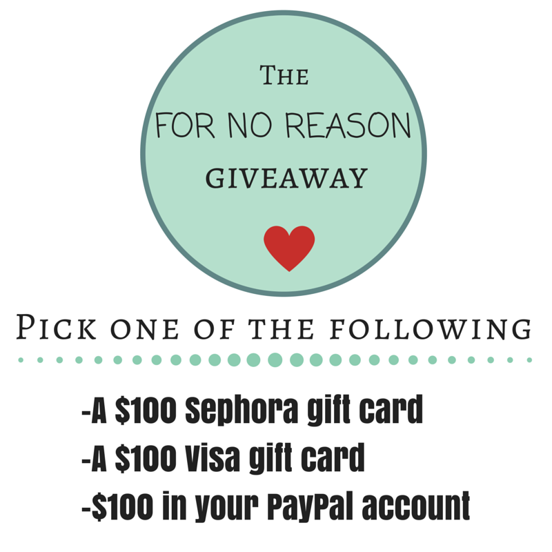 The No Reason giveaway
