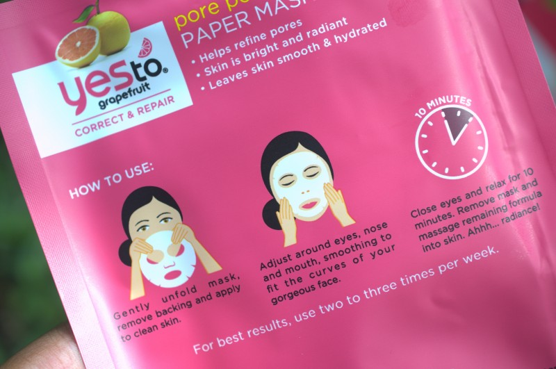 Say Yes to Grapefruit Paper Mask