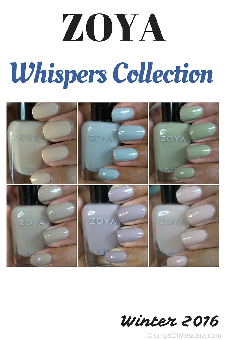 Zoya Whispers nail polish collection