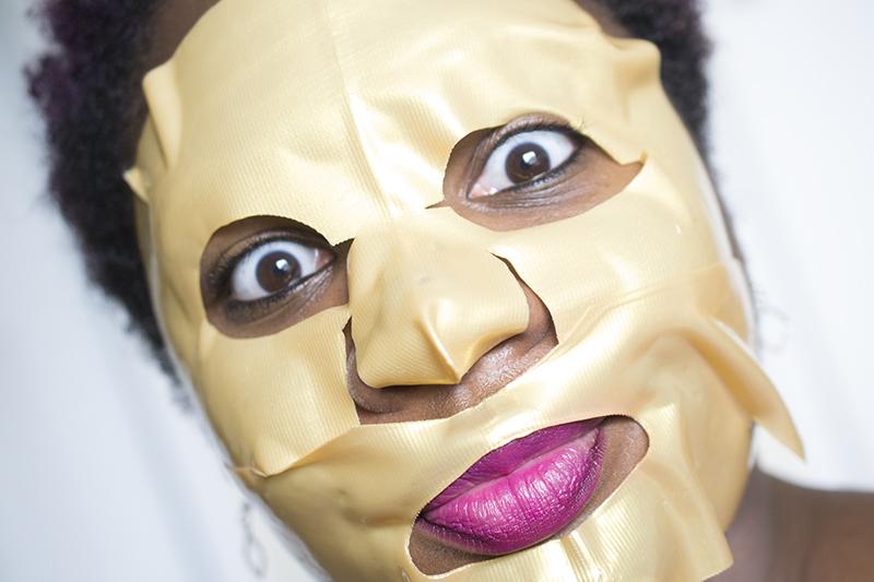 Gold sheet mask