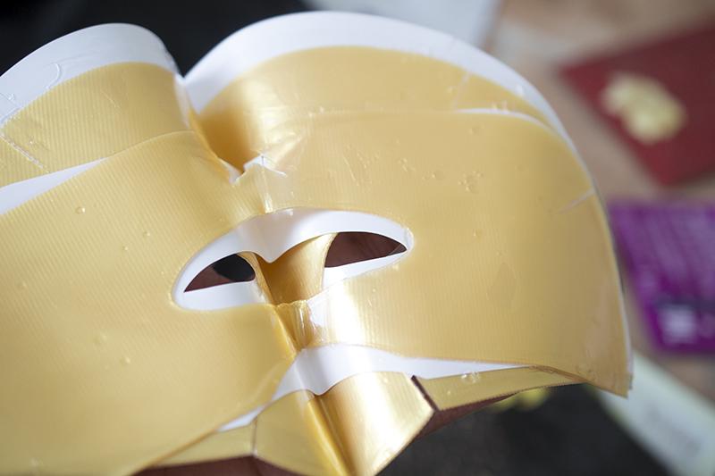 Golden sheet mask