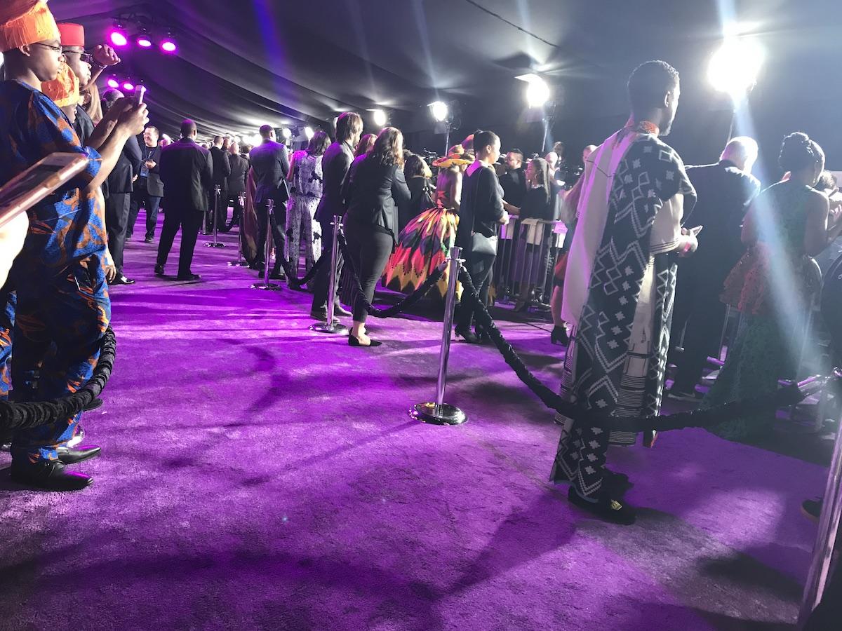 Black Panther Purple Carpet