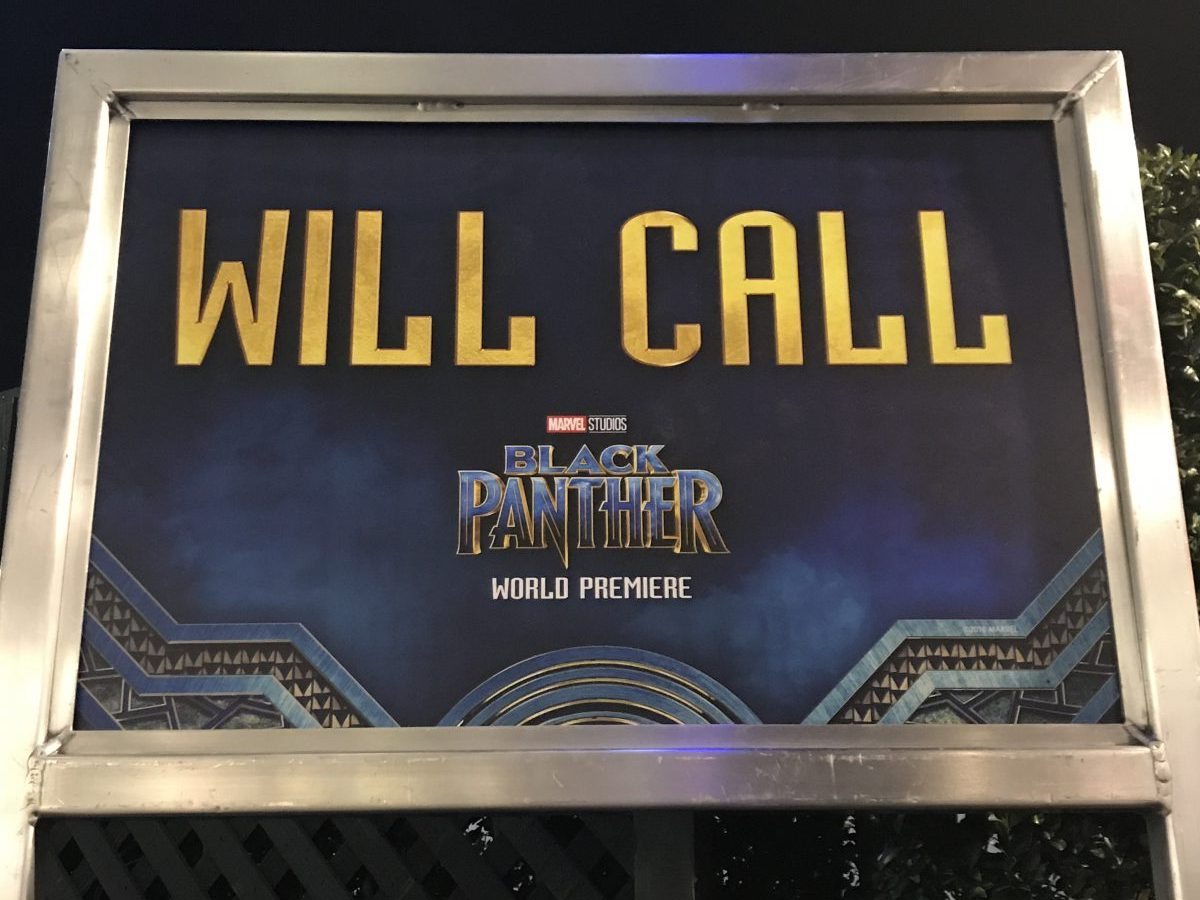 Black Panther World Premiere Will Call