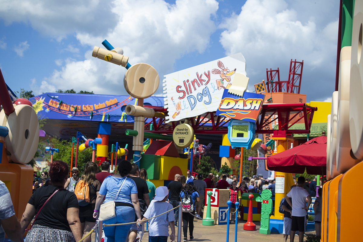 Slinky Dog rollercoaster